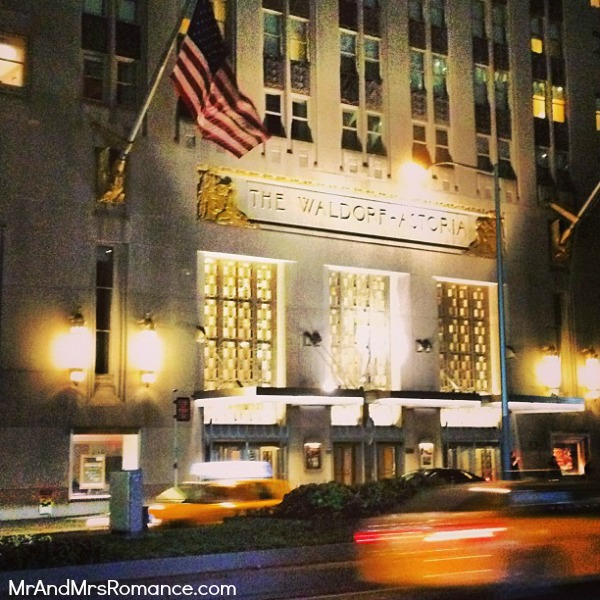 Mr & Mrs Romance - USA - 8 NYC The Waldorf