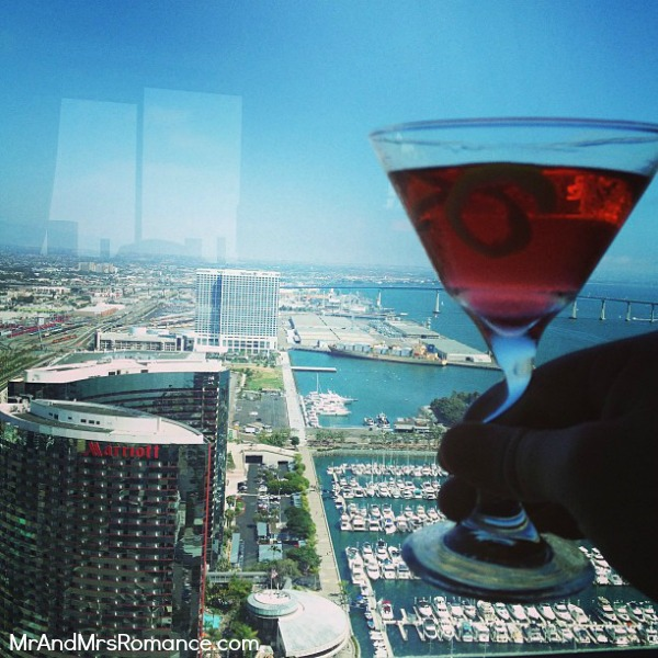 Mr and Mrs Romance - San Diego pt 2 - 7 negroni at the Hyatt 2