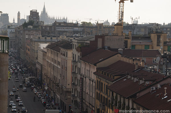 Best Western Hotel Galles Milan - Rooftop views towards the Duomo