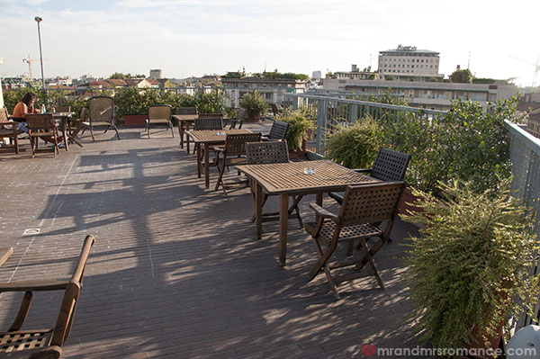 Best Western Hotel Galles Milan - the larger rooftop area