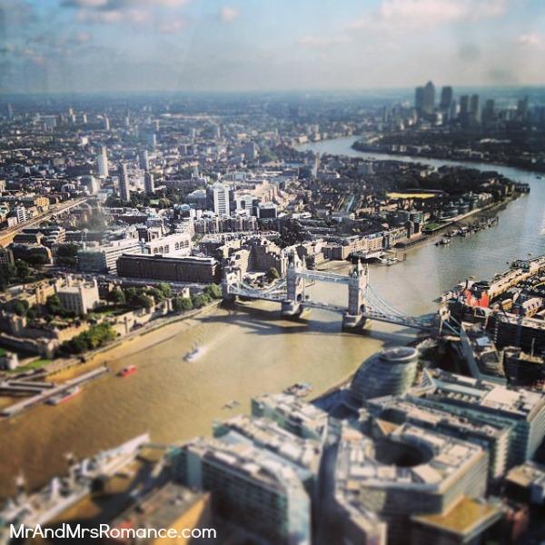 Mr & Mrs Romance - European Romance London - 10 MM7 London from the Shard