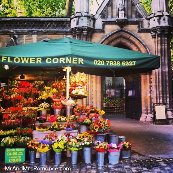 Mr & Mrs Romance - European Romance London - 18 HR3 London flower stall