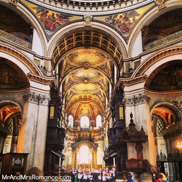 Mr & Mrs Romance - European Romance London - 21 MM15 Inside St Paul's Cathedral
