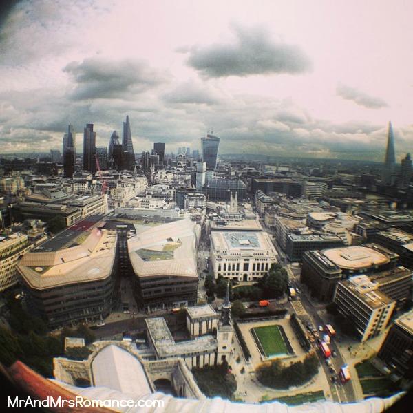 Mr & Mrs Romance - European Romance London - 24 MM17 fisheye view from Golden Gallery St Pauls