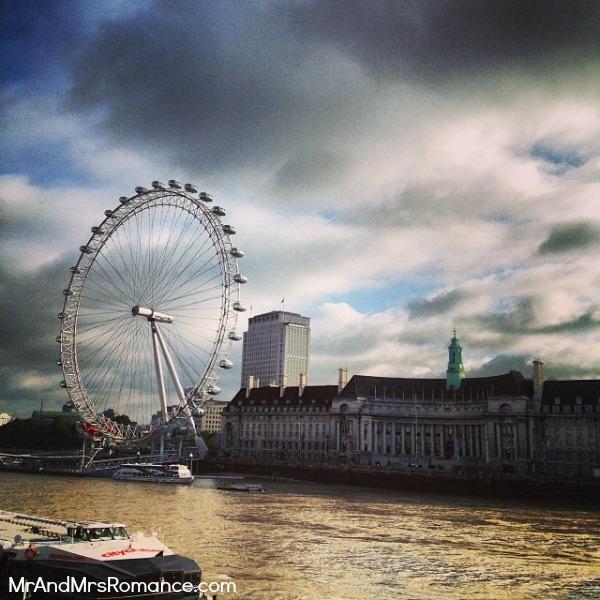 Mr & Mrs Romance - European Romance London - 3 MM3 The Thames and the London Eye