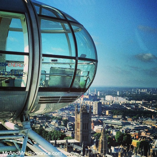 Mr & Mrs Romance - European Romance London - 4 MM4 The London Eye pod