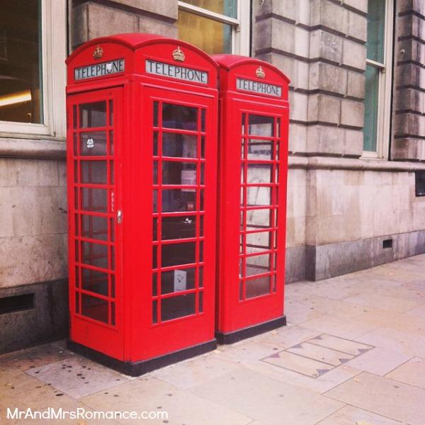Mr & Mrs Romance - European Romance London - 6 HR2 phonebox