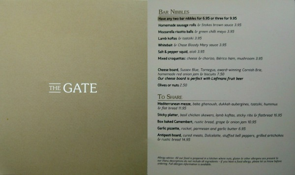 Mr & Mrs Romance - Friday Drinks - The Gate Menu
