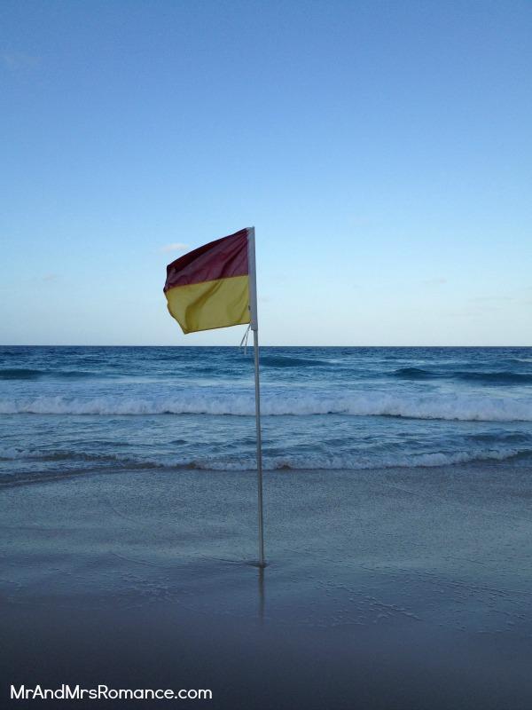 Mr & Mrs Romance - Gold Coast - my pic of the flag