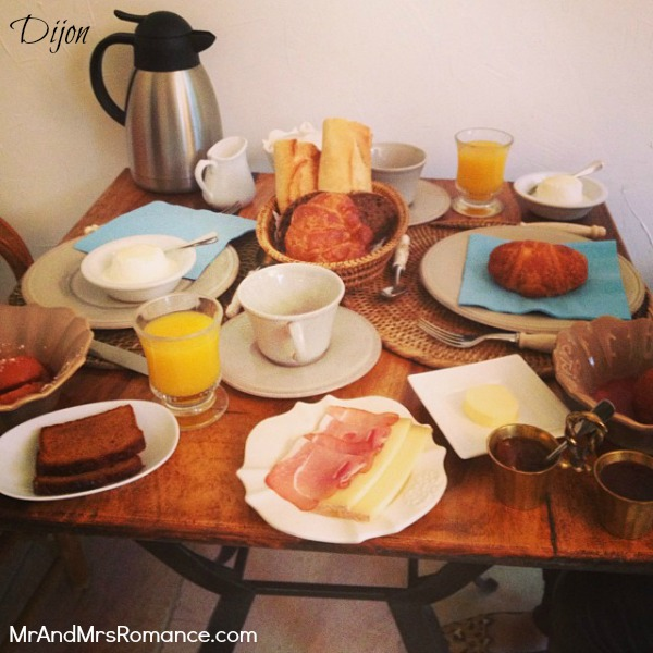 Mr & Mrs Romance - Instagram diary S France - 018 MM 12 breakfast at Hotel Villa Louise nr Dijon