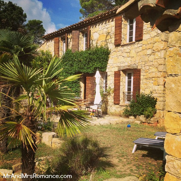 Mr & Mrs Romance - Instagram diary S France - 02 MM 9 our digs in Provence