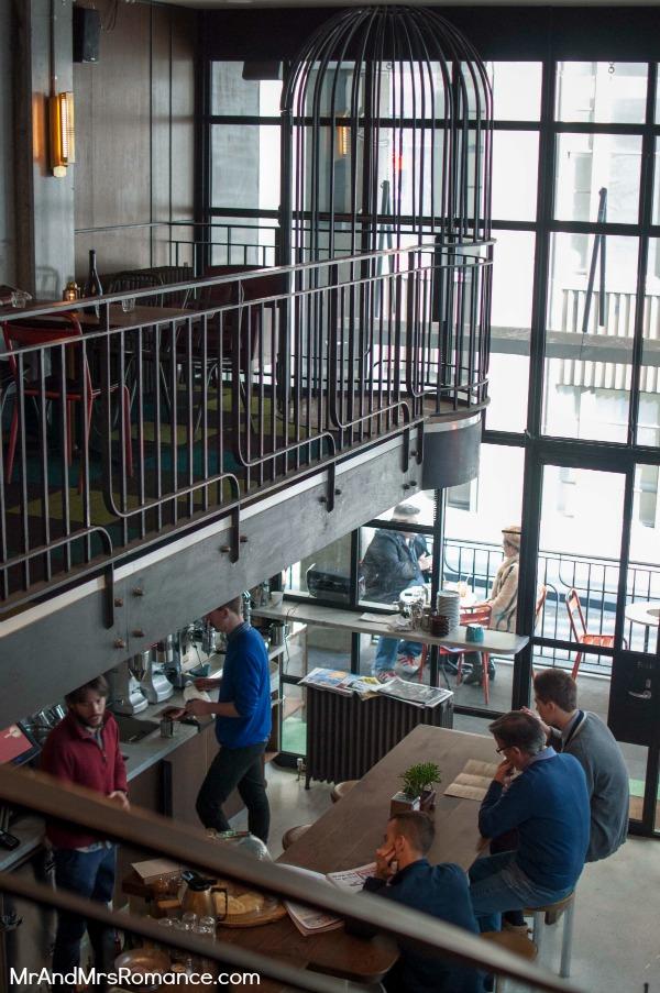 Mr & Mrs Romance - Neapoli Cafe Melbourne - mezzanine and cage