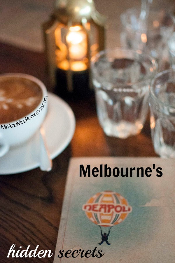 Mr & Mrs Romance - Neapoli Cafe Melbourne - title & menu