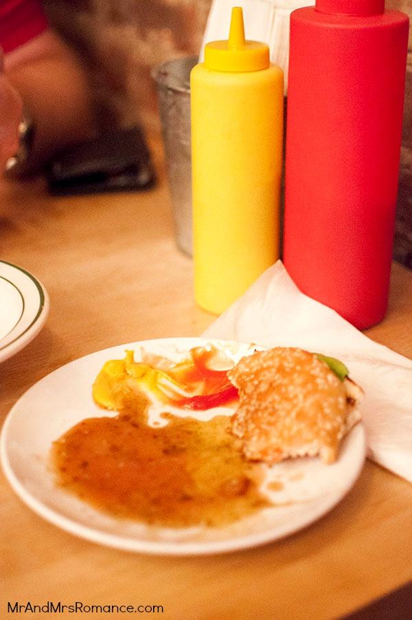 Mr & Mrs Romance - USA '13 NYC - 8 Whitmans burger East Village