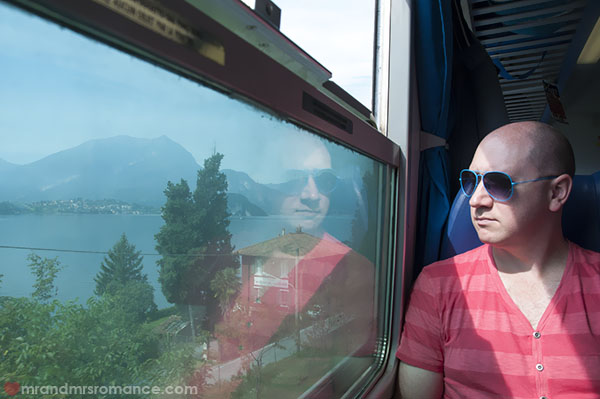 Mr & Mrs Romance - on the train to Lake Como