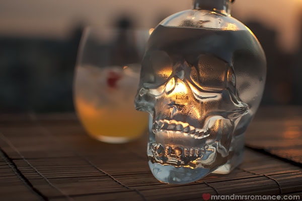 Mr and Mrs Romance - Crystal Skull Vodka cocktail