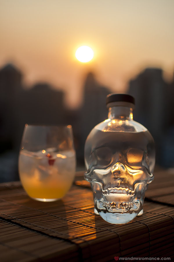 Mr and Mrs Romance - Crystal Skull Vodka cocktails