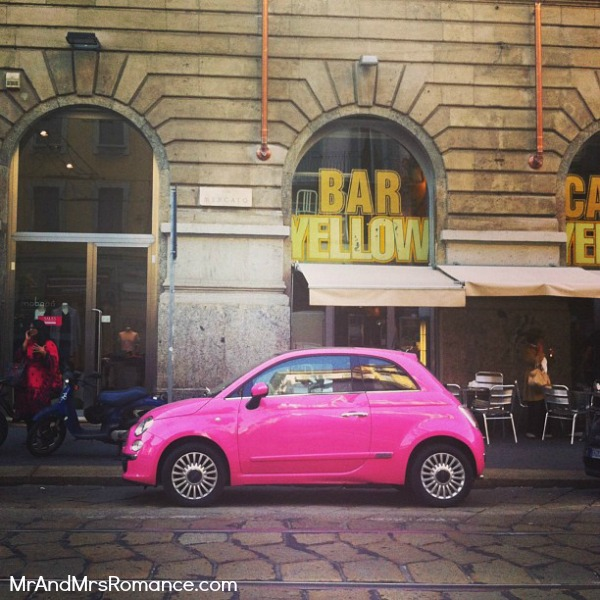 Mr and Mrs Romance - Europe 13 Milan - 20 HR Yellow Bar Pink Car!