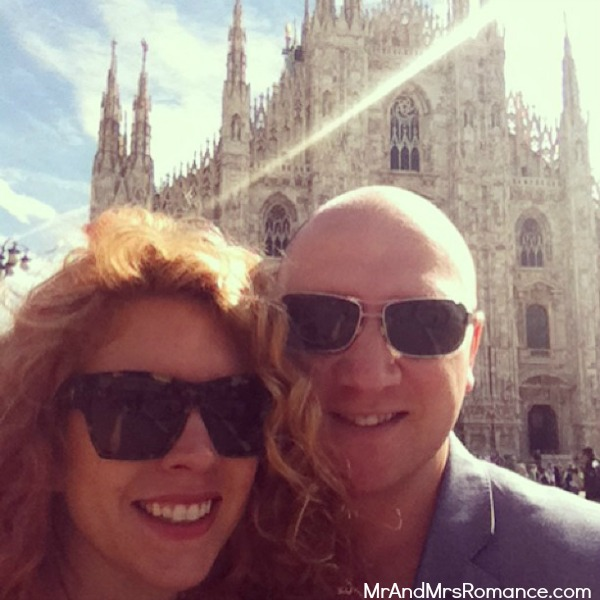 Mr and Mrs Romance - Europe 13 Milan - 9.1 HR Us at the Milan Duomo