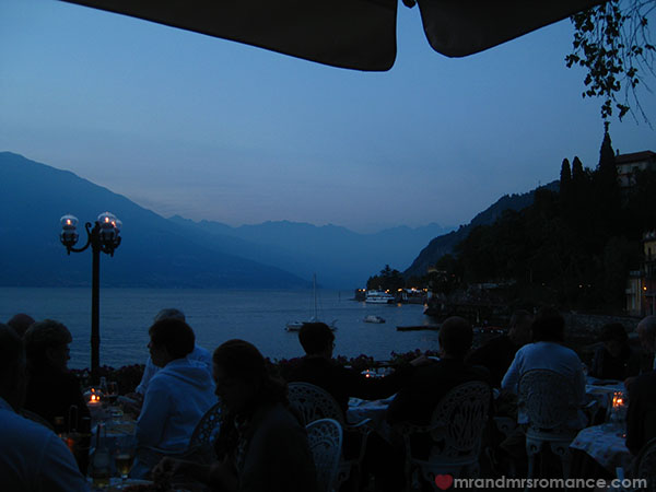 Mr and Mrs Romance evening at Lake Como Italy