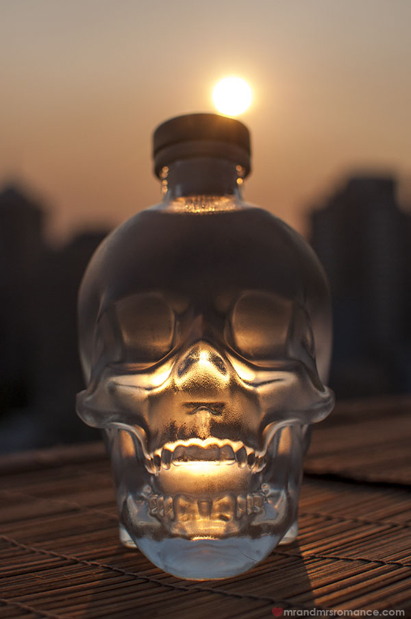 Mr and Mrs Romance x Crystal Head Vodka at sunset