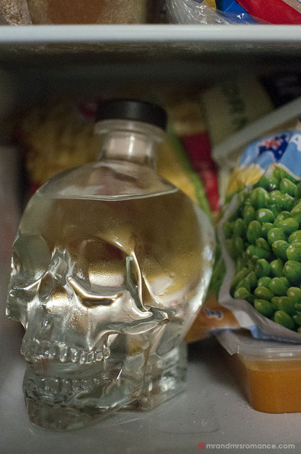 Mrs & Mrs Romance - keep your Crystal Skull Vodka in the freezer