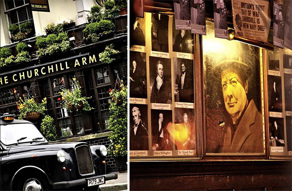 The Churchill Arms pub Kensington London