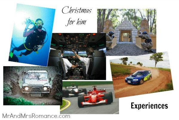 Mr & Mrs Romance - Christmas for him - 4 Experience presents 2