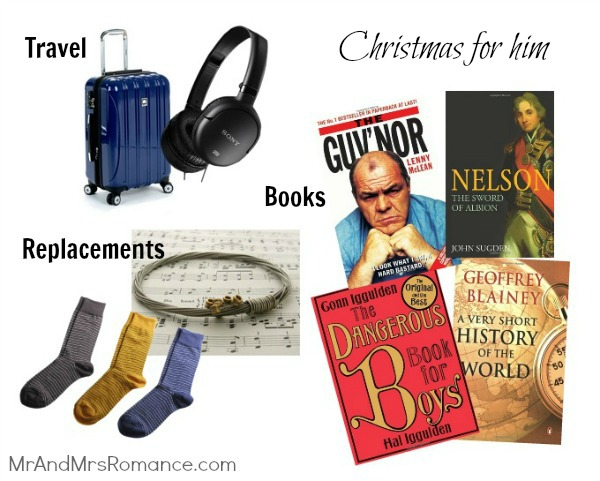 Mr & Mrs Romance - Christmas for him - 5 travel, books etc presents