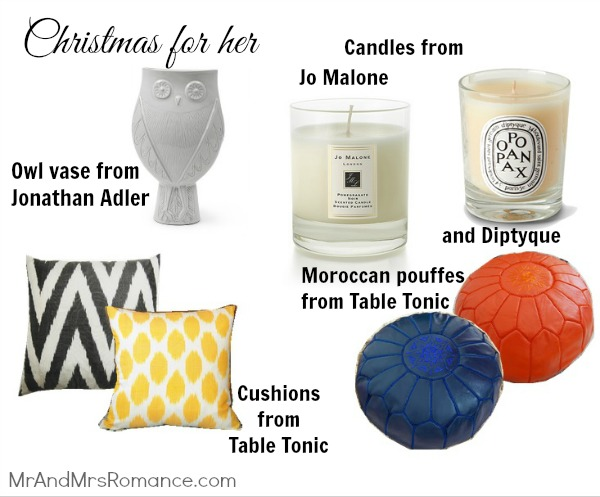 Mr & Mrs Romance - her Christmas - homewares