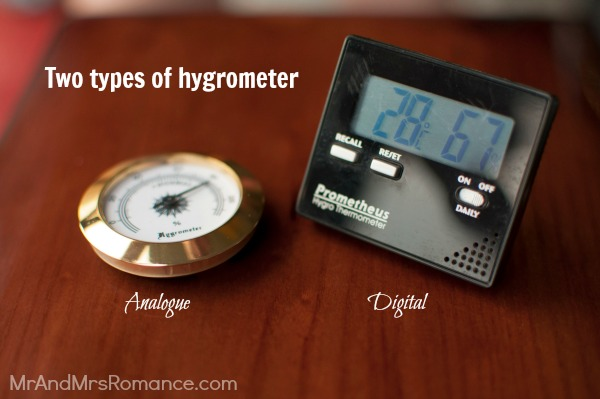 Mr & Mrs Romance - shopping for cigars - 2 hygrometer