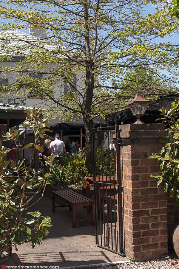 Mr and Mrs Romance - Union Bank bar garden in Orange NSW