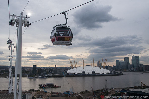 View of London from the Emirates Air Line 1