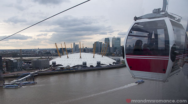 View of London from the Emirates Air Line 2