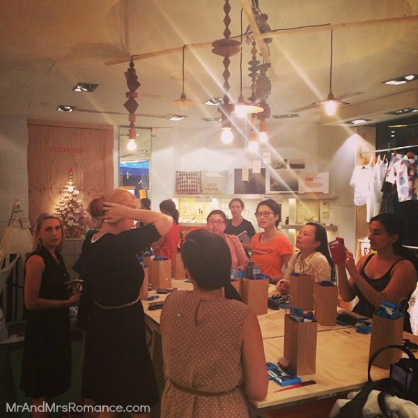 Mr & Mrs Romance - Insta Diary - HR2 Mrs R's ponytail workshop at Etsy popup