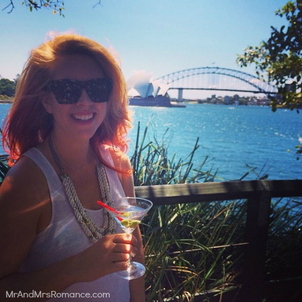 Mr & Mrs Romance - Insta diary - 13HR5 birthday martini on the harbour