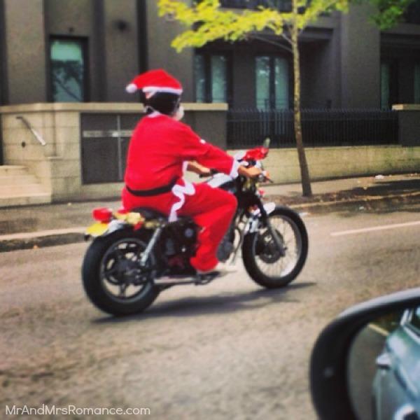 Mr & Mrs Romance - Insta diary - 25MM16 Santa on his Harley
