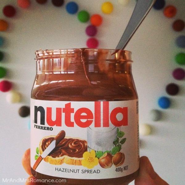 Mr & Mrs Romance - Insta diary - 3MM2 Nutella jar