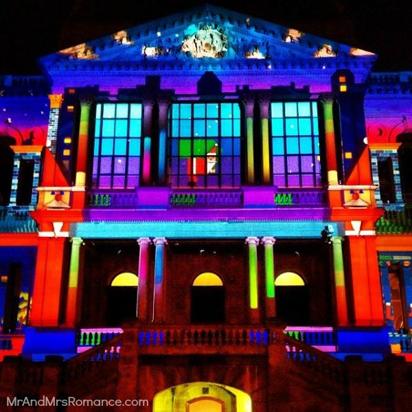 Mr & Mrs Romance - Insta diary - 7MM6 Town Hall light show