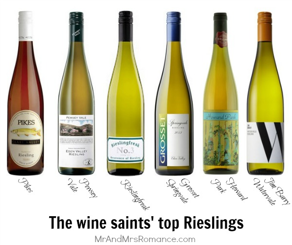 Mr & Mrs Romance - wine of the month - 2 top 6 rieslings