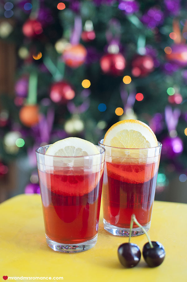 Mr and Mrs Romance - 4 Festive cocktail recipe - citrus iced tea