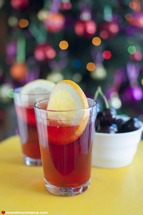 Mr and Mrs Romance - 7 Festive cocktail - citrus iced tea