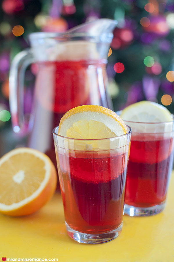 Mr and Mrs Romance - 9 Festive cocktail - citrus iced tea punch recipe