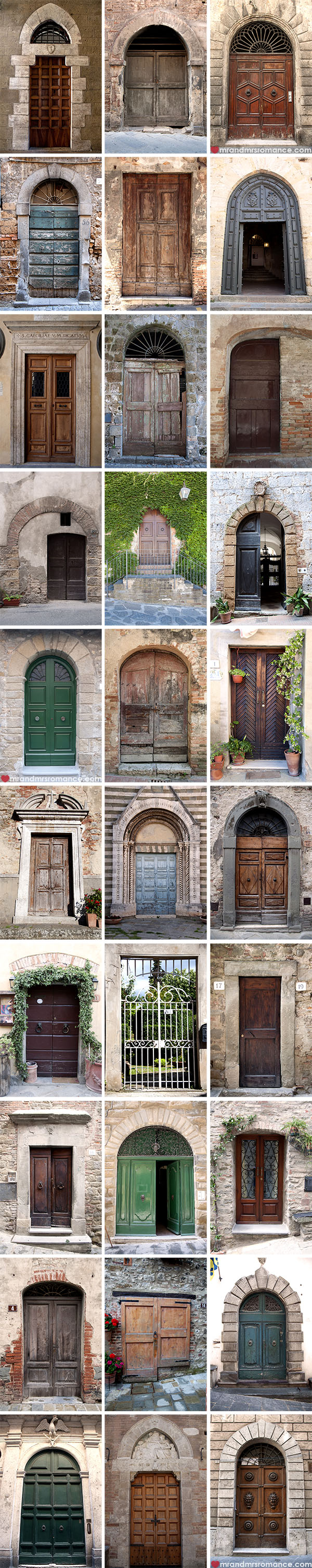 Mr and Mrs Romance - Doors of Tuscany Italy
