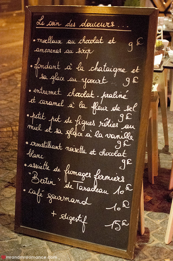 Mr and Mrs Romance - La Table du Pol - Daily menu