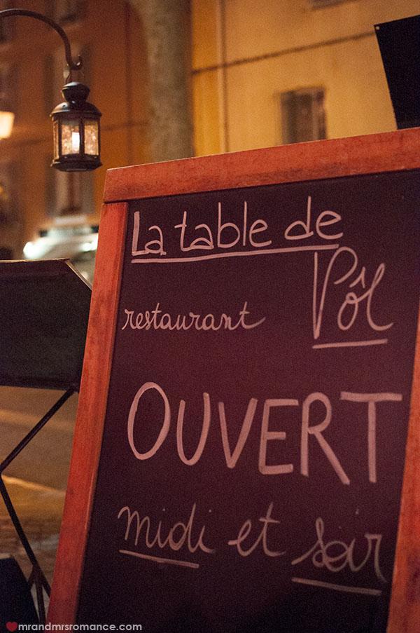 Mr and Mrs Romance - La Table du Pol in Lorgues Provence