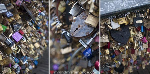 Mr and Mrs Romance - Padlocks on th Pont des Arts Paris