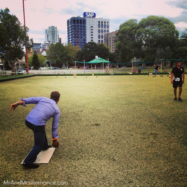 Mr & Mrs Romance - Insta Diary - 21 barefoot bowls for Felly's stag