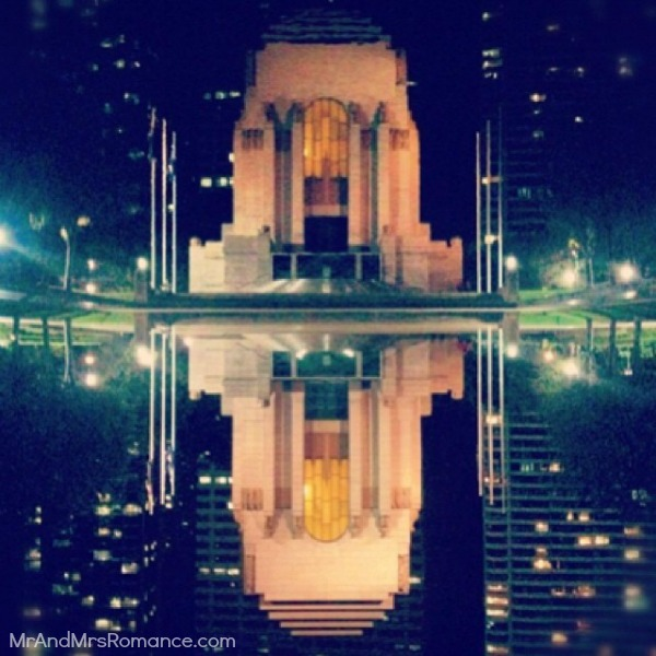 Mr & Mrs Romance - Insta Diary - 9 Anzac Memorial & its reflection looking lovely