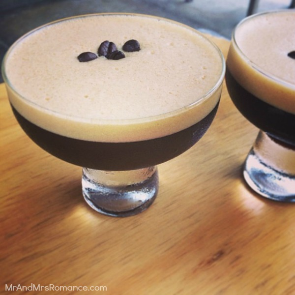 Mr & Mrs Romance - Insta diary - 15aHR7 Mrs R hits the espresso martinis before shops Jamie's Espresso on James